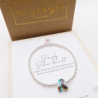 Simply Silver Bracelet with a Glass Rainbow #2