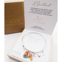 Solid sterling silver bangle-How sweet it is to be loved by you