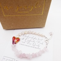 Freshwater Pearl Bracelet with Rose Quartz