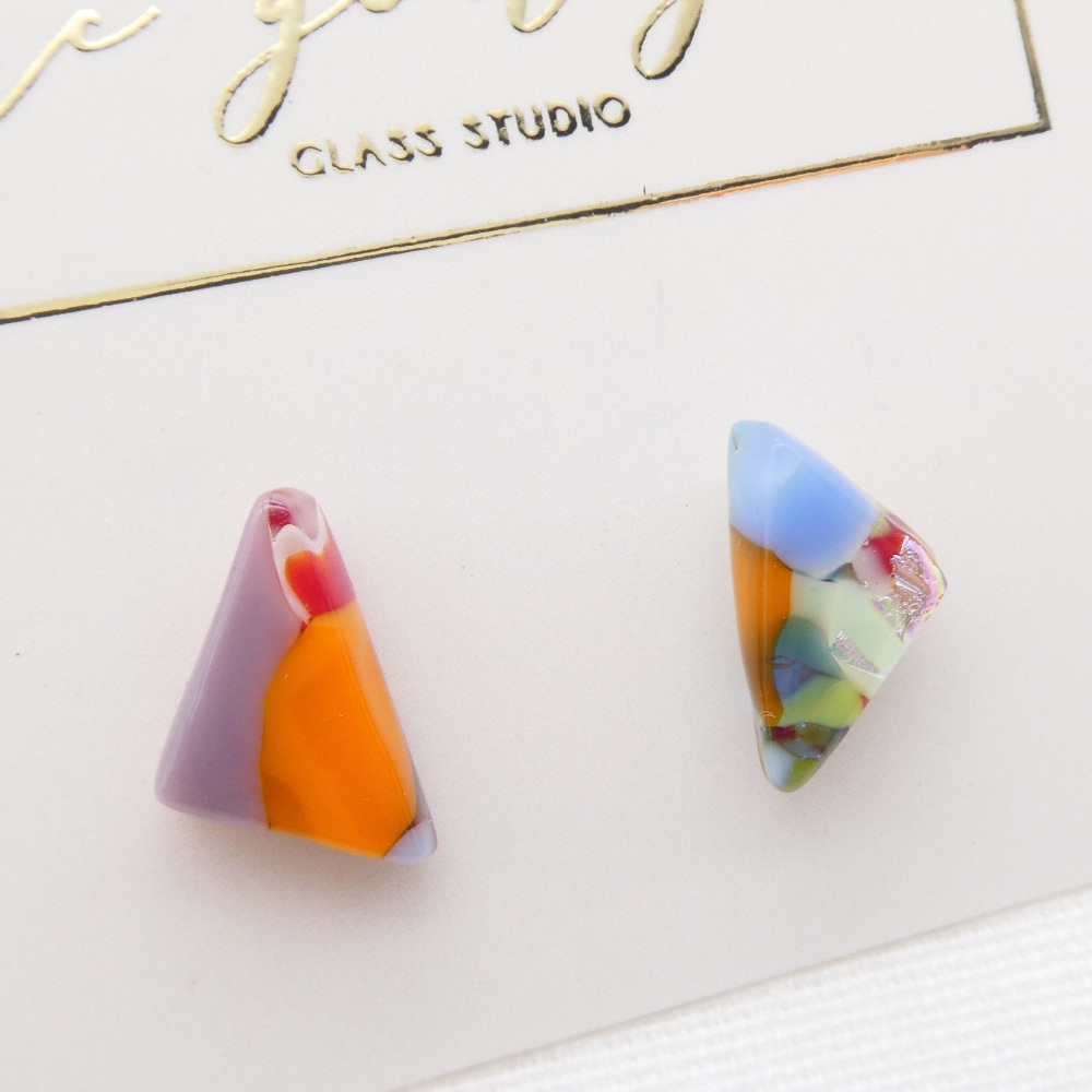 Multicoloured  geo studs #2