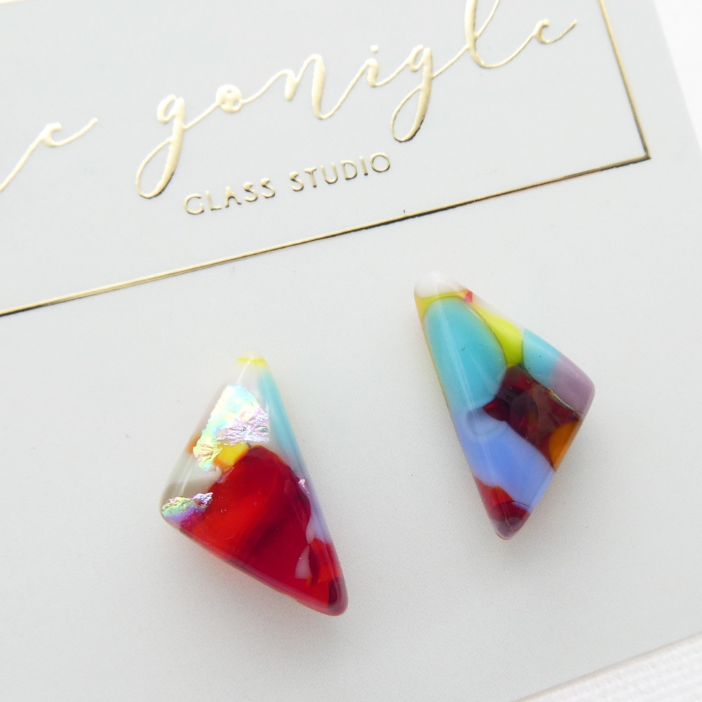 Multicoloured  geo studs #6