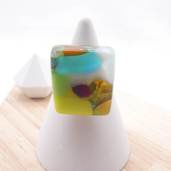 Fused Glass Ring #3