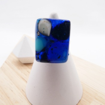Fused Glass Ring #5