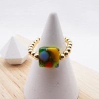 Simply Gold Ring - multicoloured Nugget