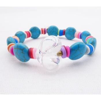 Turquoise shell bracelet