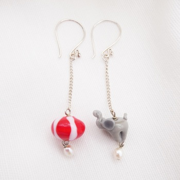 Elephant and Circus earrings