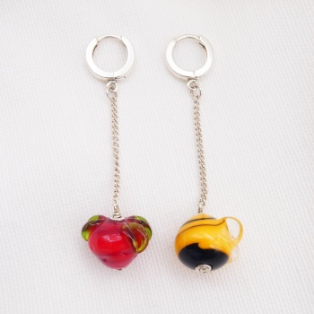 Berry and Bee Earrings