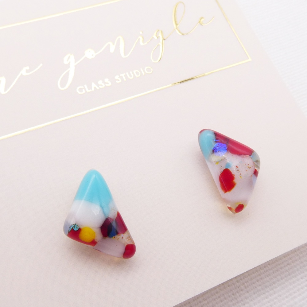 Multicoloured  geo studs #7