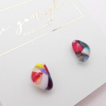 Multicoloured  geo studs #13