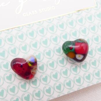 Heart studs #4