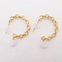 Big Chain hoops-White Glass