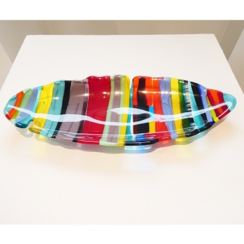Large fused glass boat bowl #2