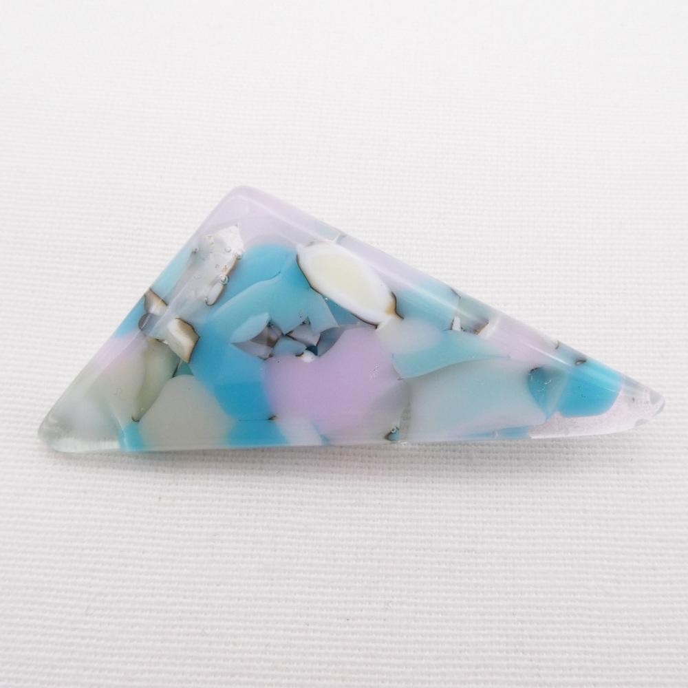 Pastel Geo Glass Brooch #2
