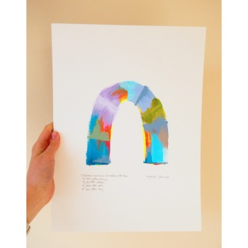 """A rainbow is a promise of sunshine after rain..."" -A3 Unframed painting"