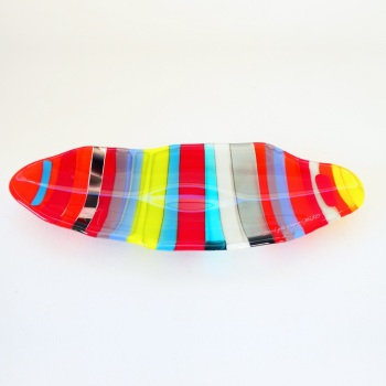 Small fused glass boat bowl