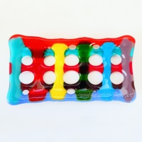 Multicoloured Fused Glass Soap Dish #3