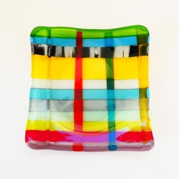 Small Fused Glass Plate #1