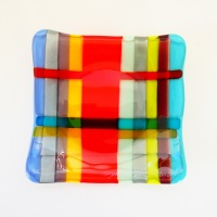 Small Fused Glass Plate #2