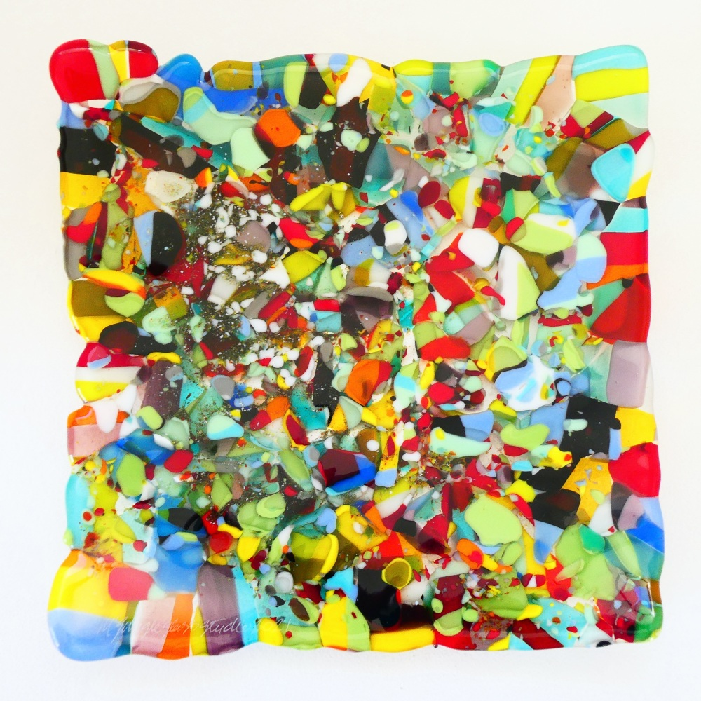 Large Fused Glass plate