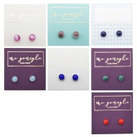 Fused Small Studs-Deep colour tones