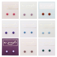 NEW Tiny Fused Glass Studs