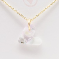 Pastel glass heart on filled gold #4