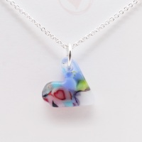 Miliforie glass heart on silver #3