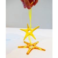 Yellow  Glass Star Decoration