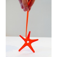 Blood Orange Glass Star Decoration