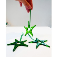 Green Glass Star Decoration