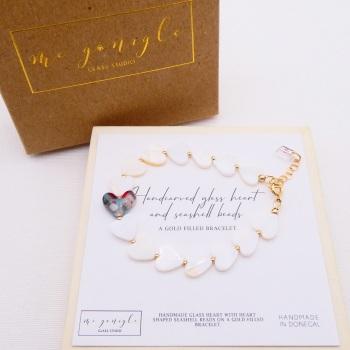 Seashell Heart Bracelet