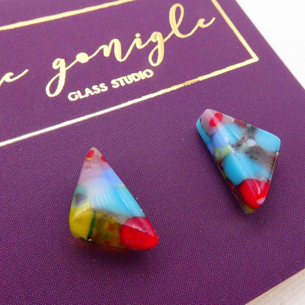Multicoloured  geo studs #6
