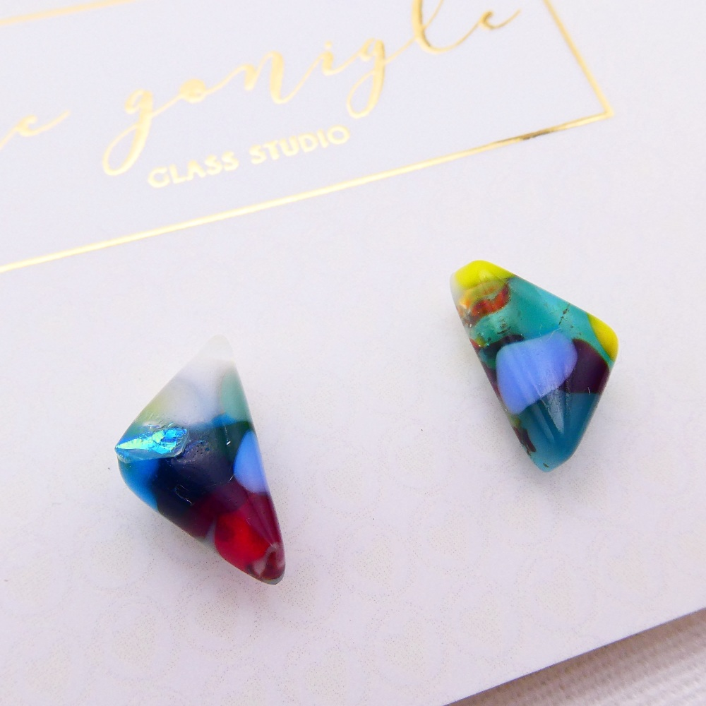 Multicoloured  geo studs #9