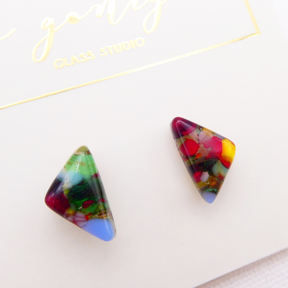 Multicoloured  geo studs #16