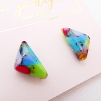 Multicoloured  geo studs #20