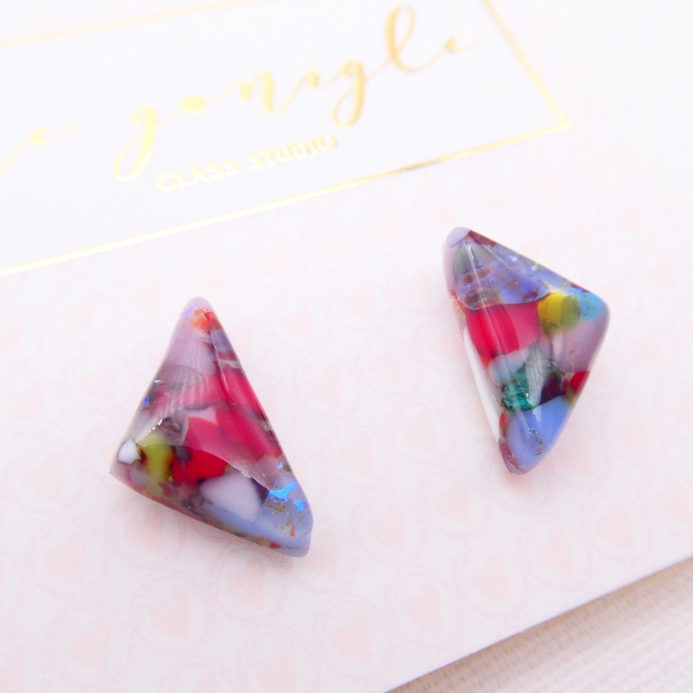 Multicoloured  geo studs #24