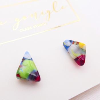 Multicoloured  geo studs #28