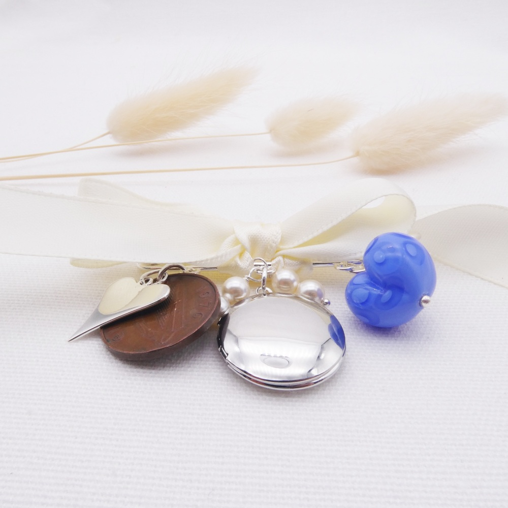 Bridal Wedding Pin With Locket
