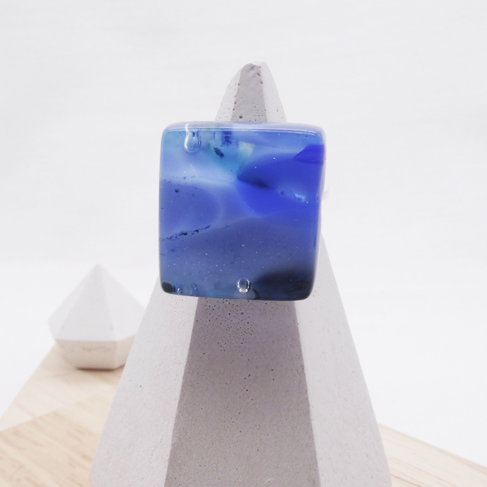 Fused Glass Ring #8