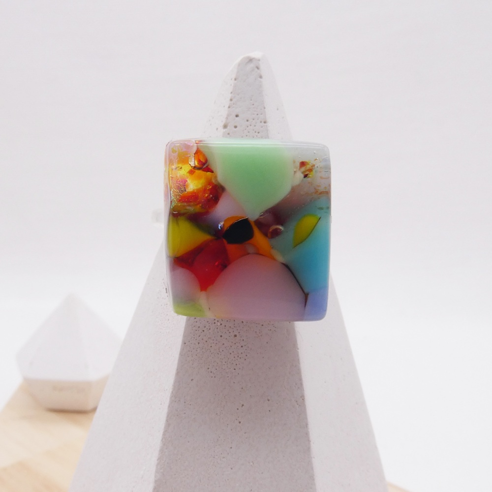 Fused Glass Ring #12