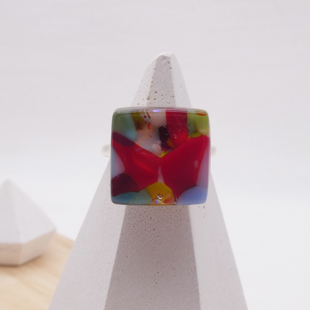 Fused Glass Ring #13