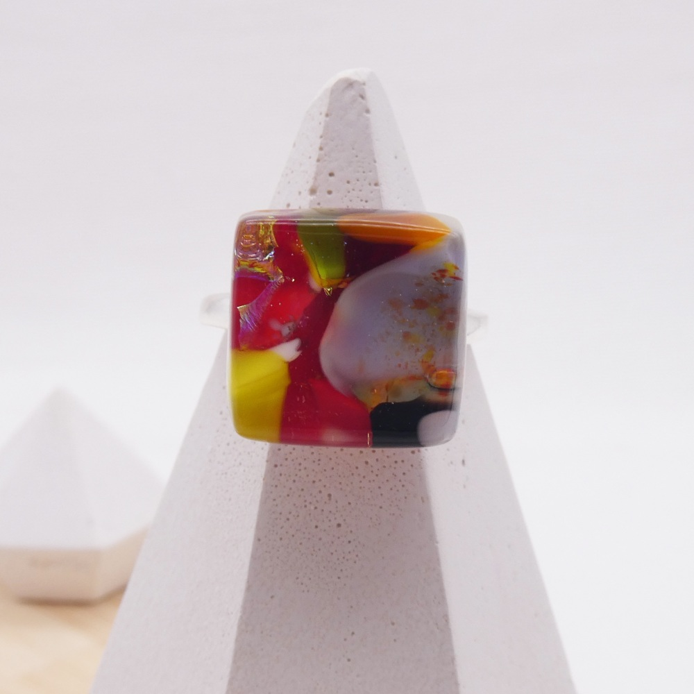 Fused Glass Ring #14