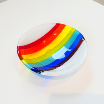 Small Retro Rainbow Bowl #1