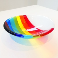 Small Retro Rainbow Bowl #2