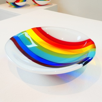 Small Retro Rainbow Bowl #3