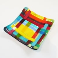 Small Fused Glass Plate #3