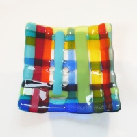 Small Fused Glass Plate #4
