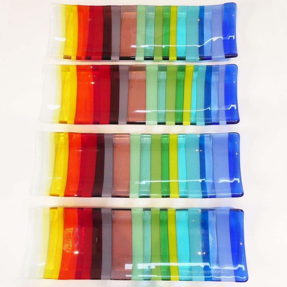 Rainbow Fused glass Sweet dish