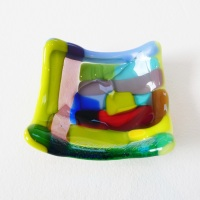 Tiny Fused glass Dish #1