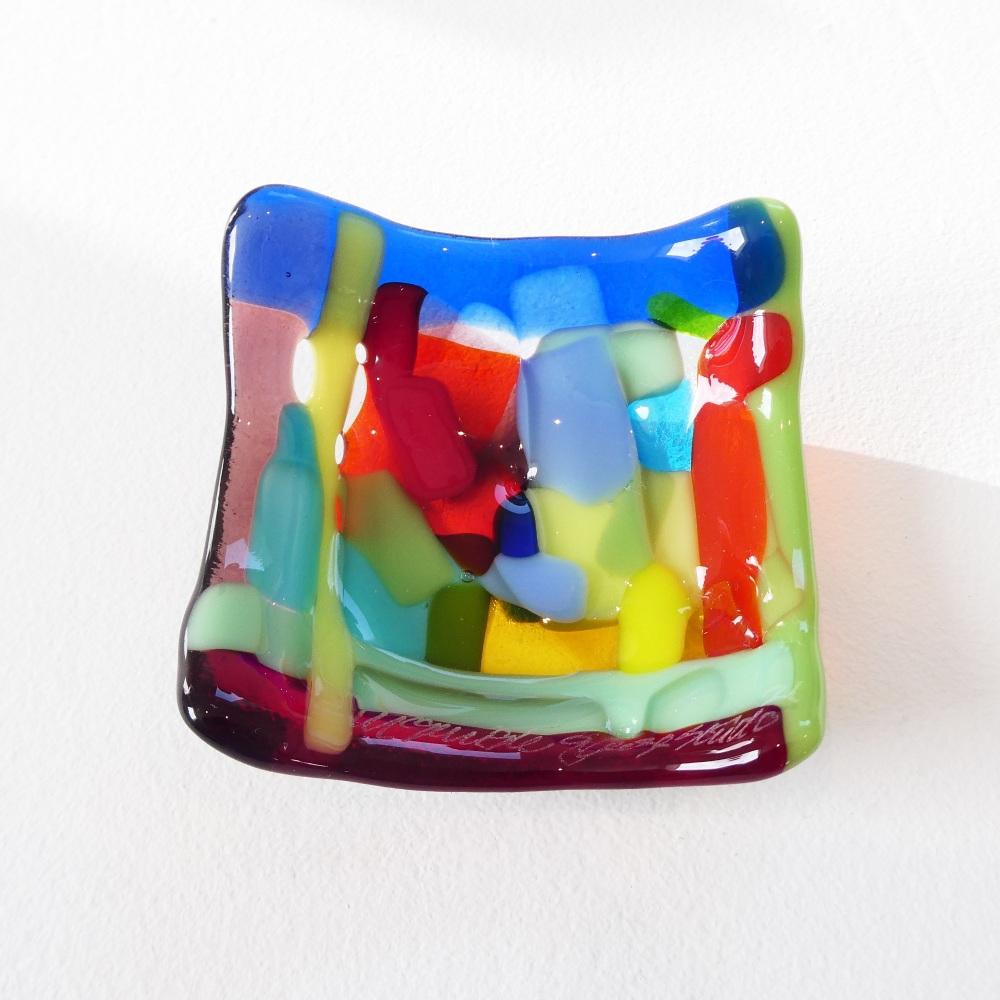 Tiny Fused glass Dish #3